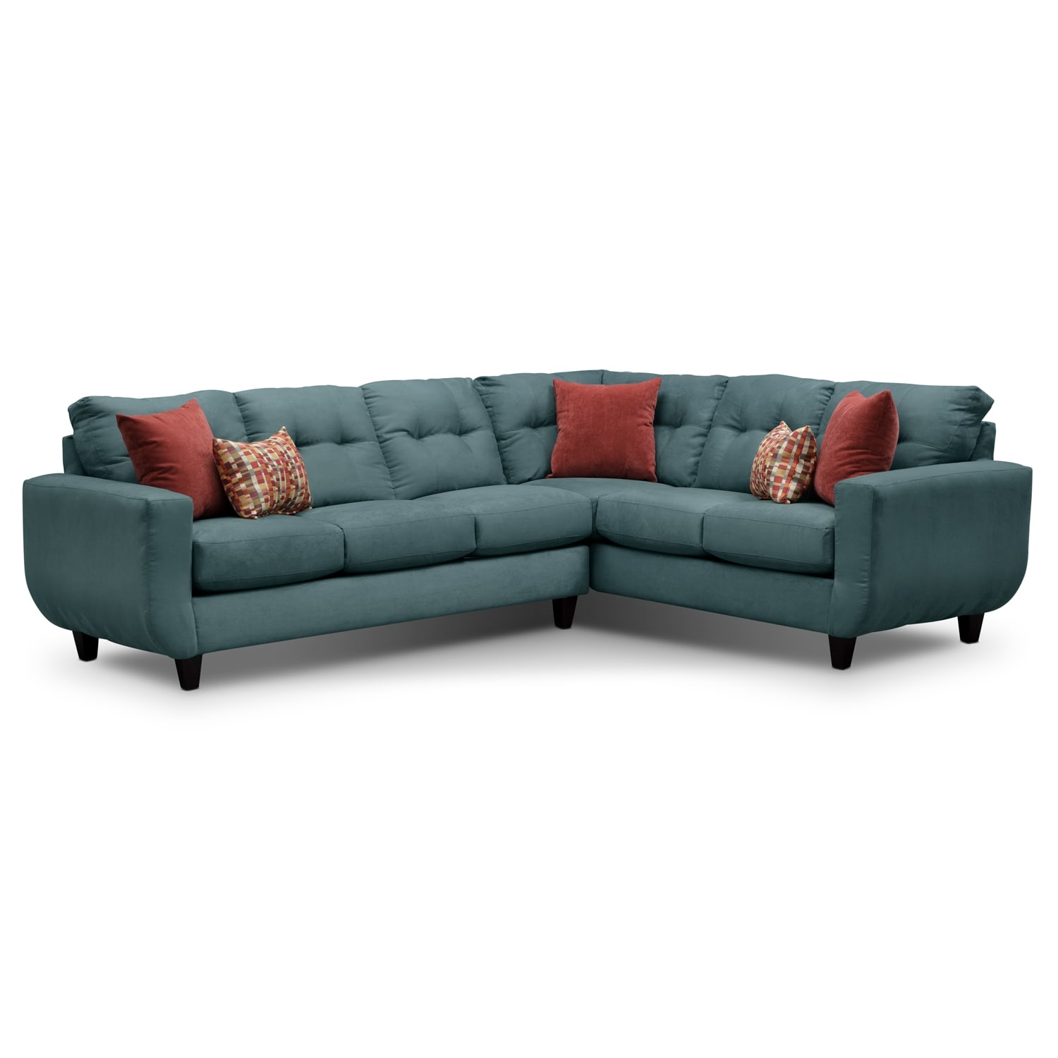 West Village Blue II 2 Pc. Sectional