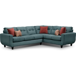 West Village 2-Piece Sectional - Blue