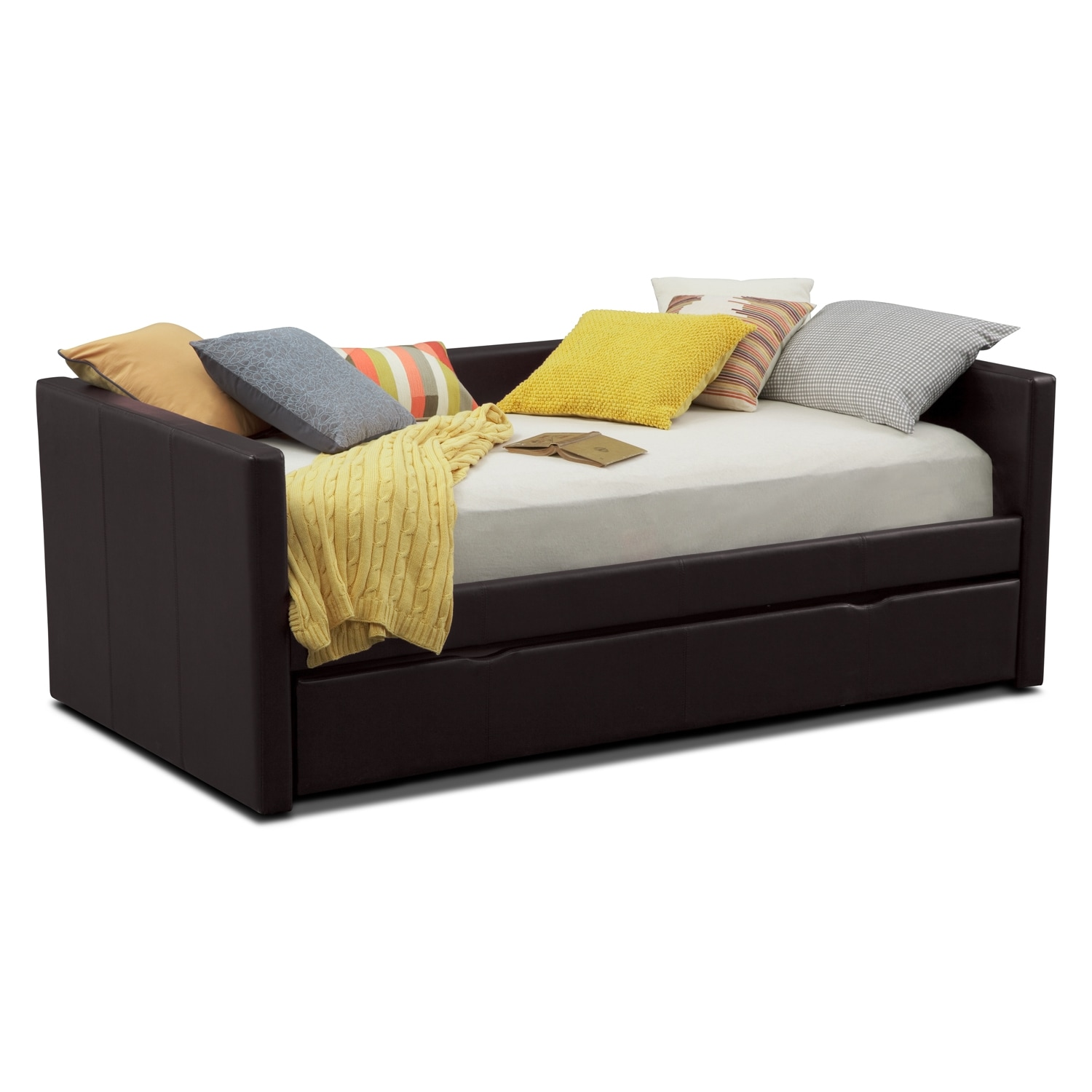 carey full daybed with trundle brown