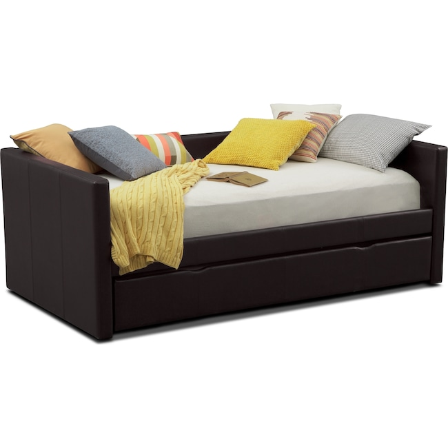 Carey Twin Daybed with Trundle - Brown - Carey Twin Daybed With Trundle - Brown Value City Furniture