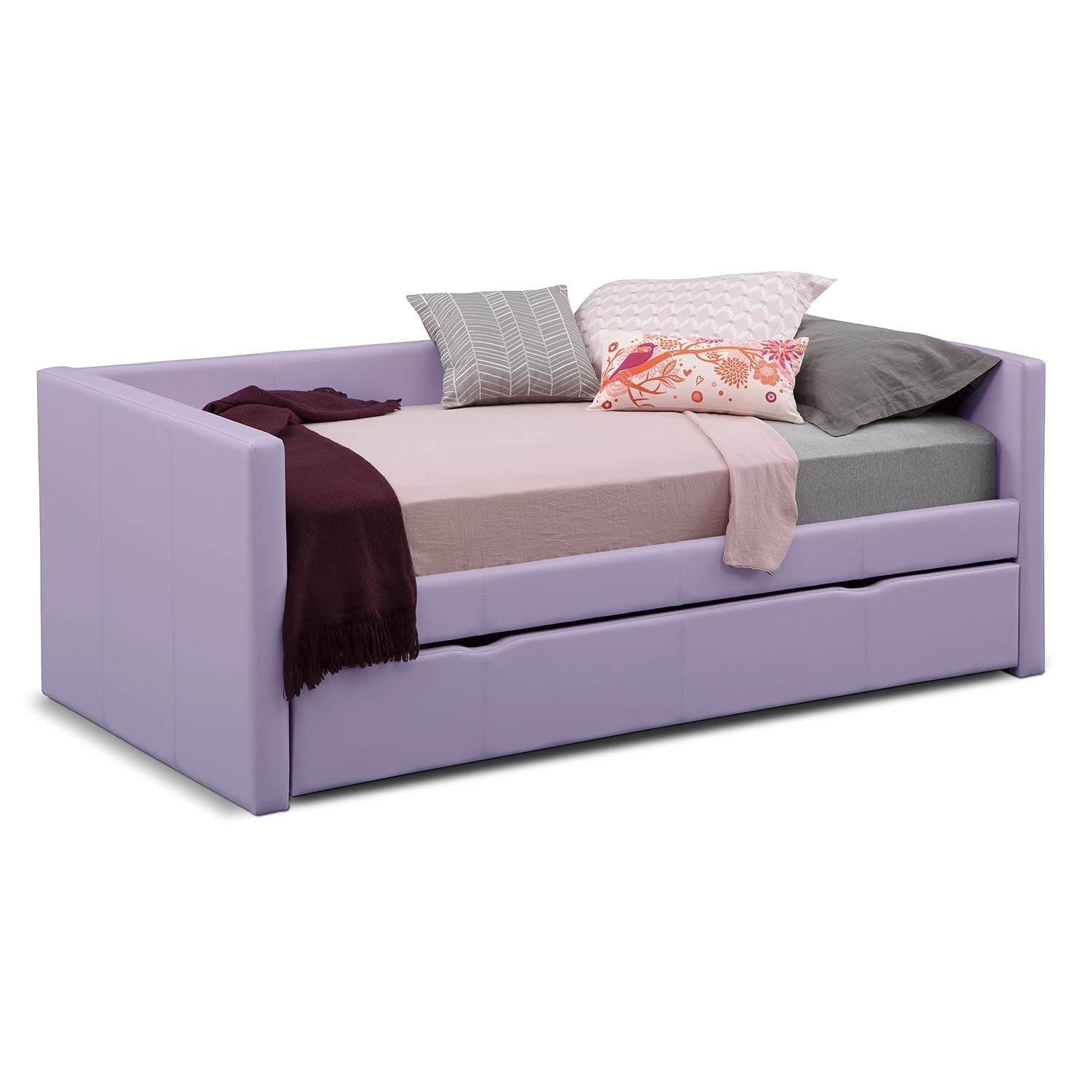 carey full daybed with trundle purple