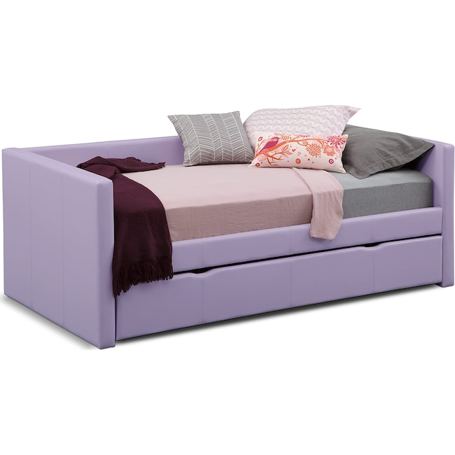 Kids Furniture - Carey Twin Daybed with Trundle - Purple
