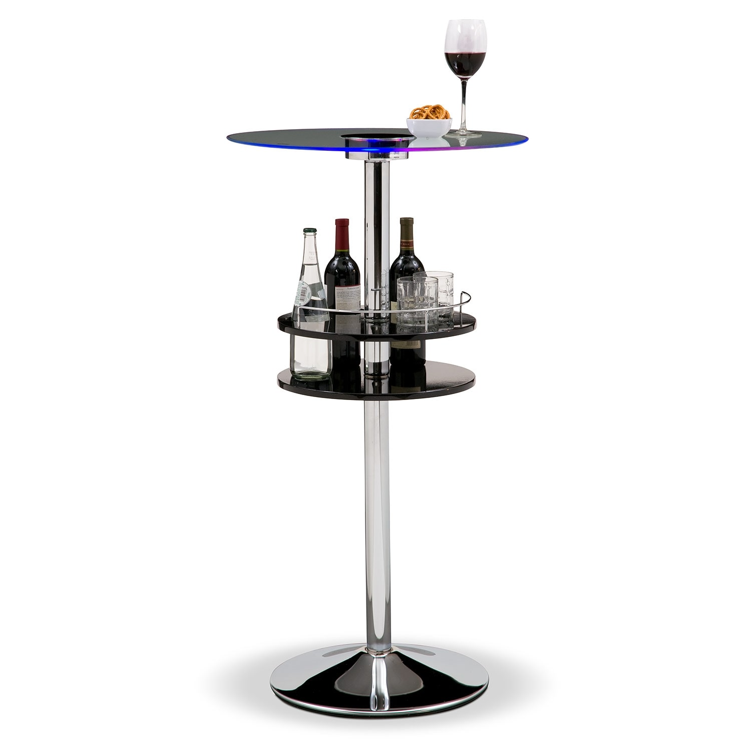Accent and Occasional Furniture - Reno Bar Table w/ Light - Black