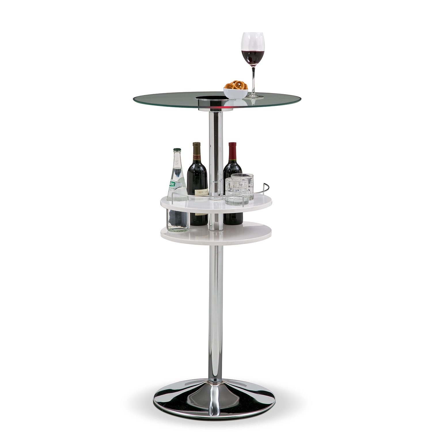 Reno Bar Table w/ Light - White