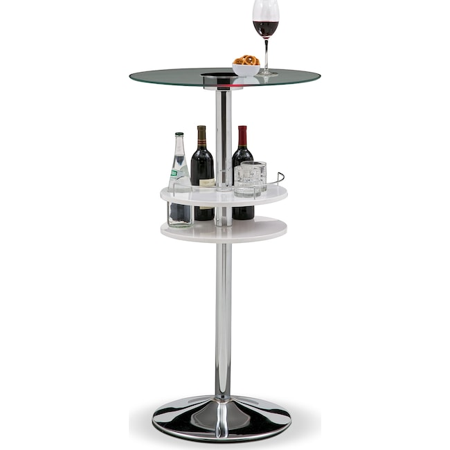 Accent and Occasional Furniture - Reno Bar Table w/ Light - White