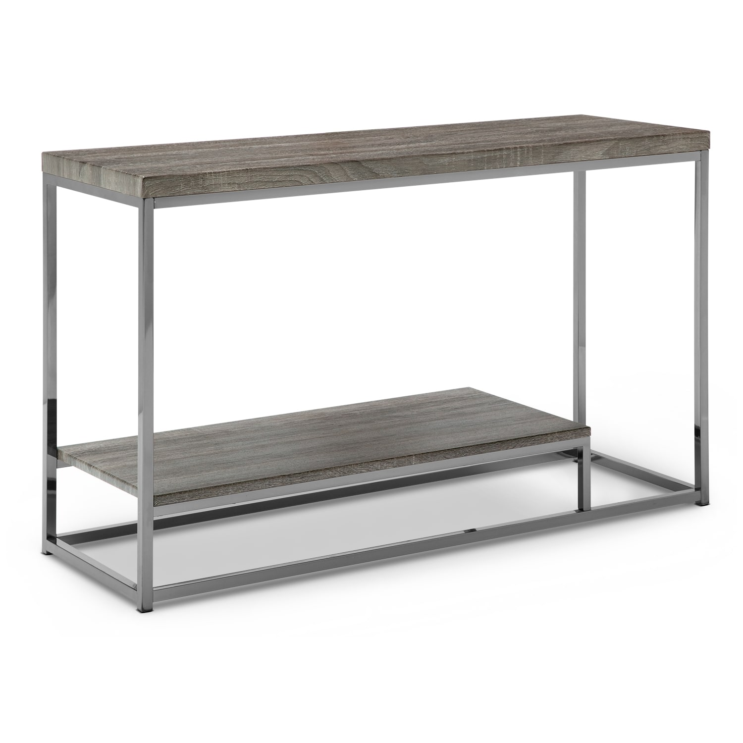 Accent and Occasional Furniture - Cirrus Sofa Table - Gray and Brown