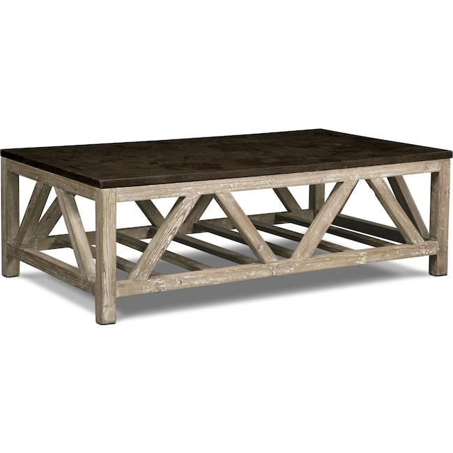 Accent and Occasional Furniture - Grandin Cocktail Table - Brown