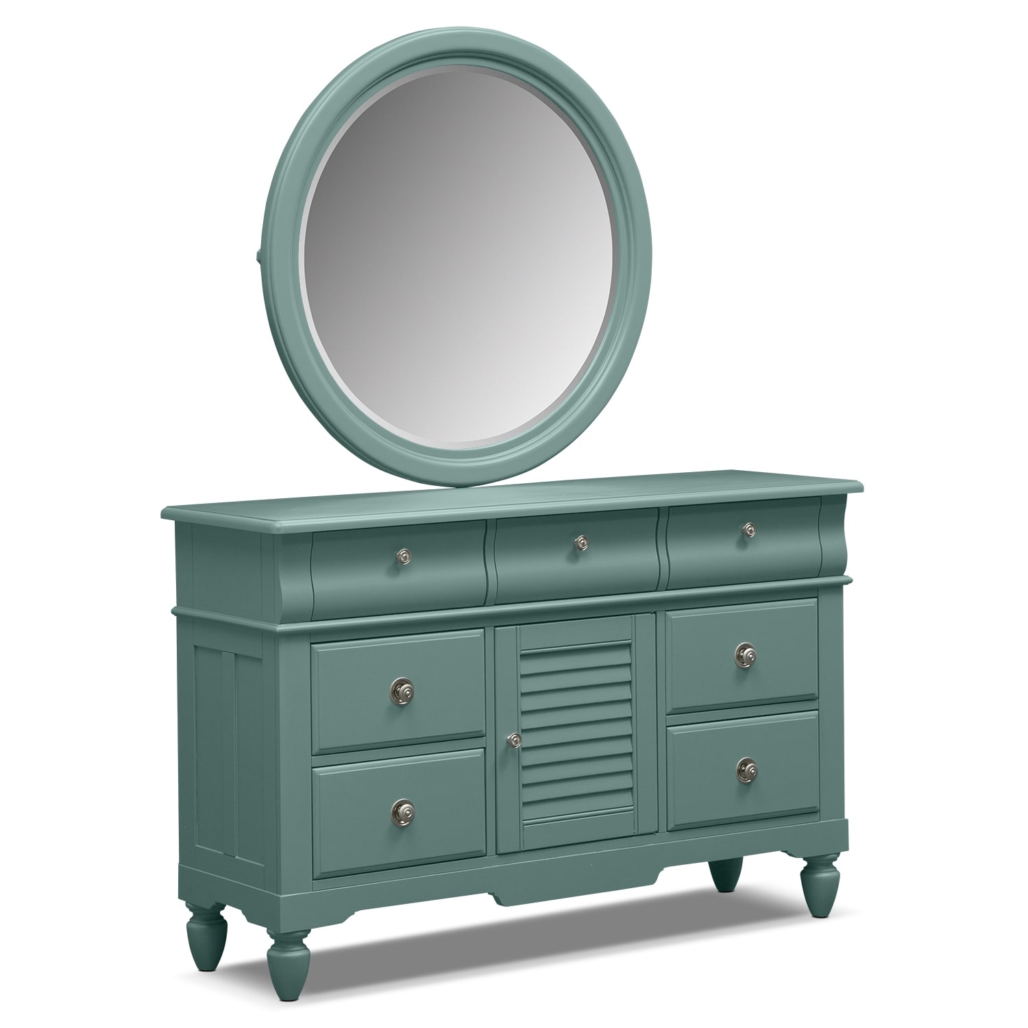 Kids Furniture - Seaside Dresser and Mirror - Blue
