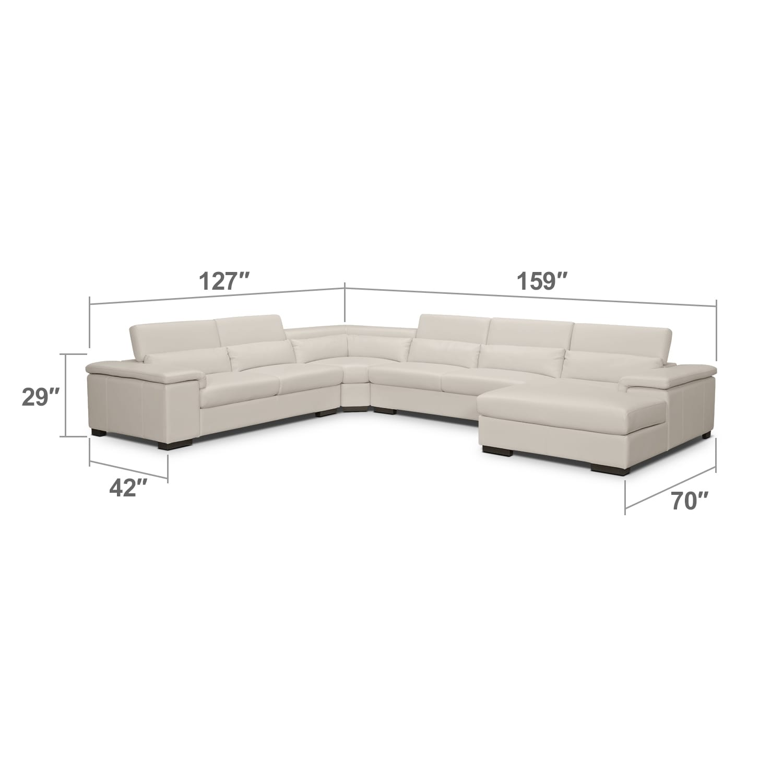 Living Room Furniture - Ventana 4 Pc. Sectional