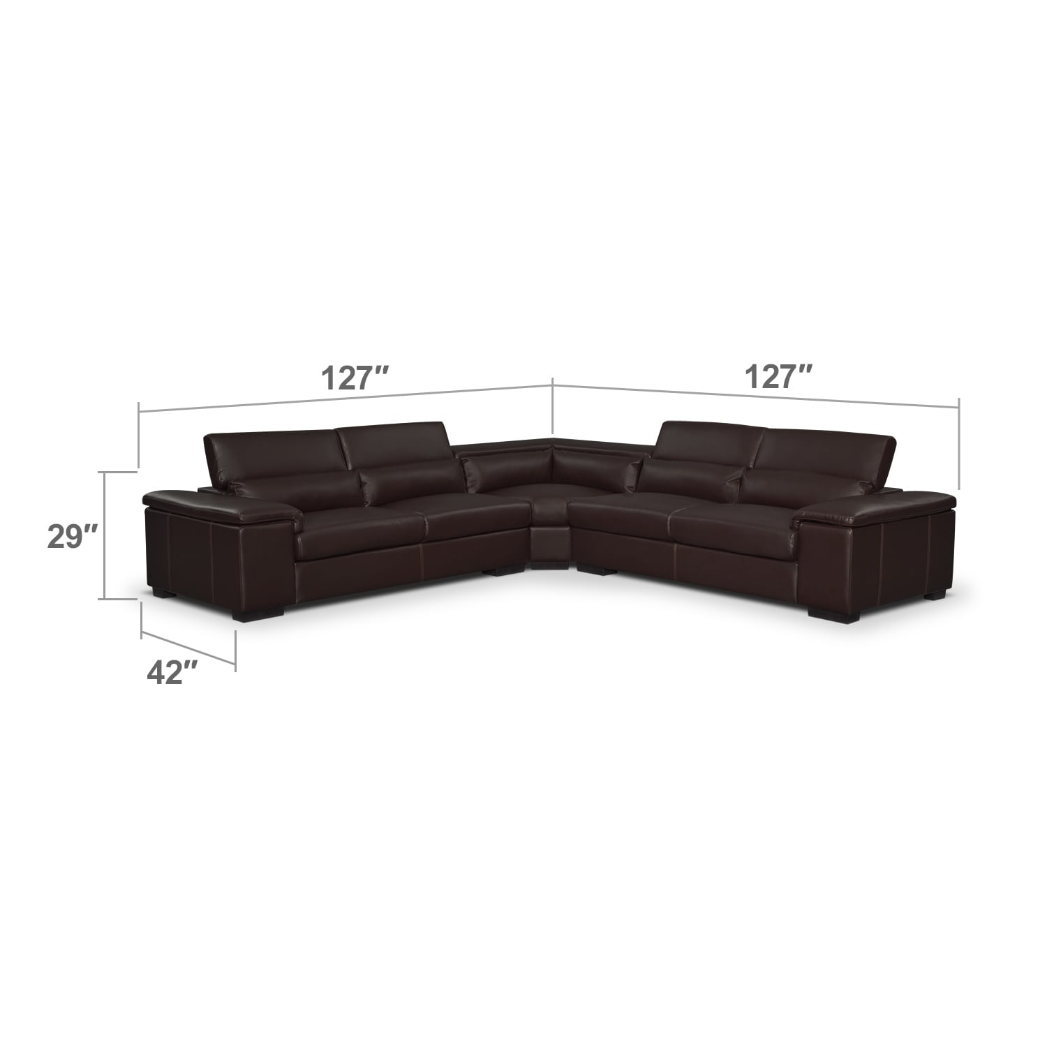 Living Room Furniture - Ventana 3-Piece Sectional - Godiva