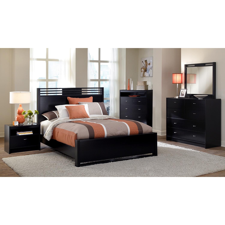 Bally Espresso 7 Pc Queen Bedroom Value City Furniture