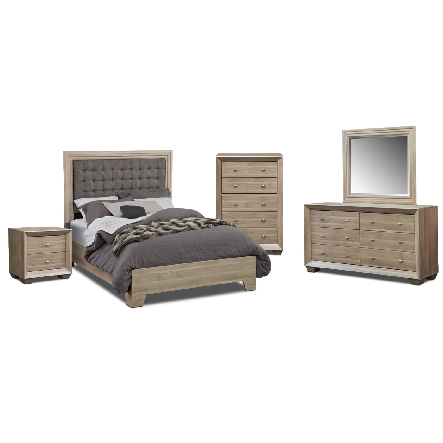 Bedroom Furniture - Siena 7 Pc. Queen Bedroom