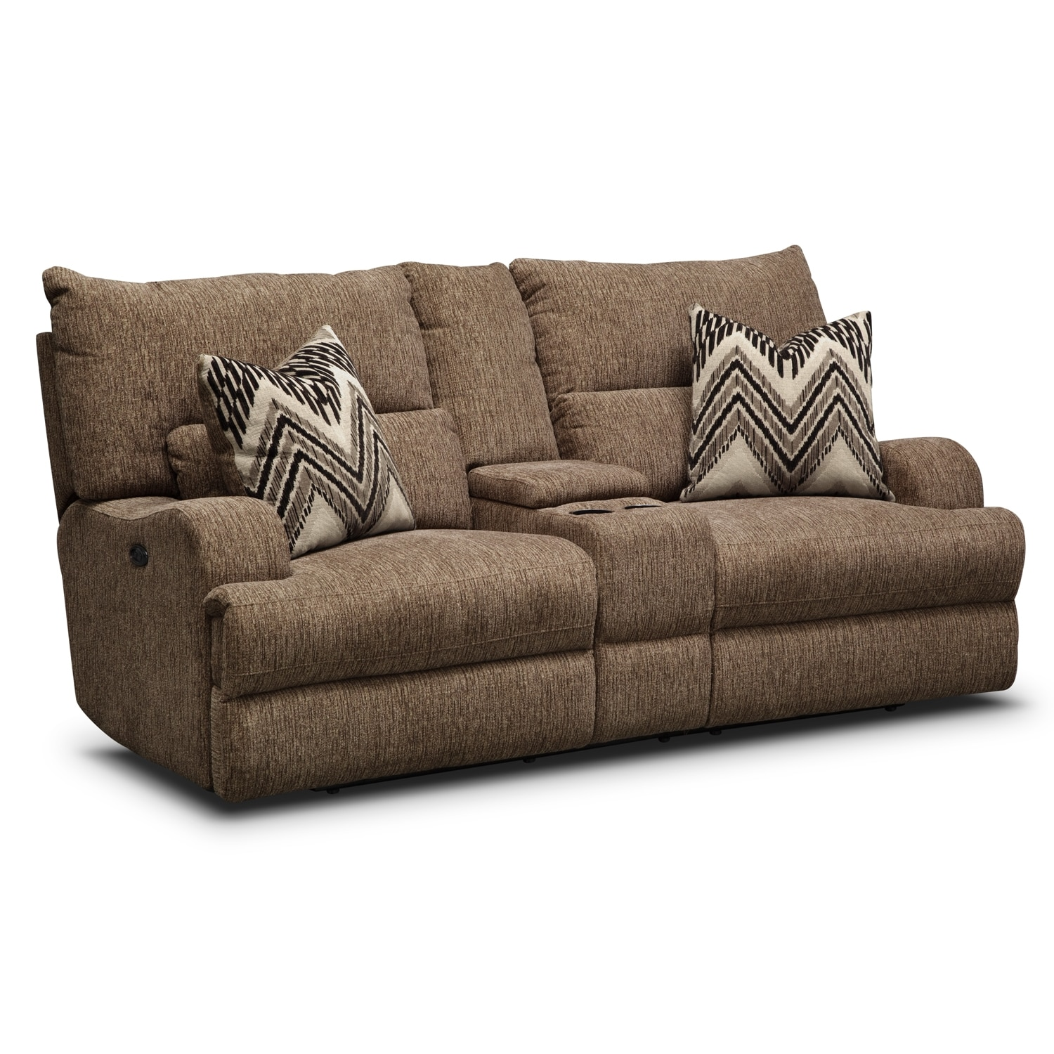 Living Room Furniture - Sundance Power Reclining Loveseat with Console