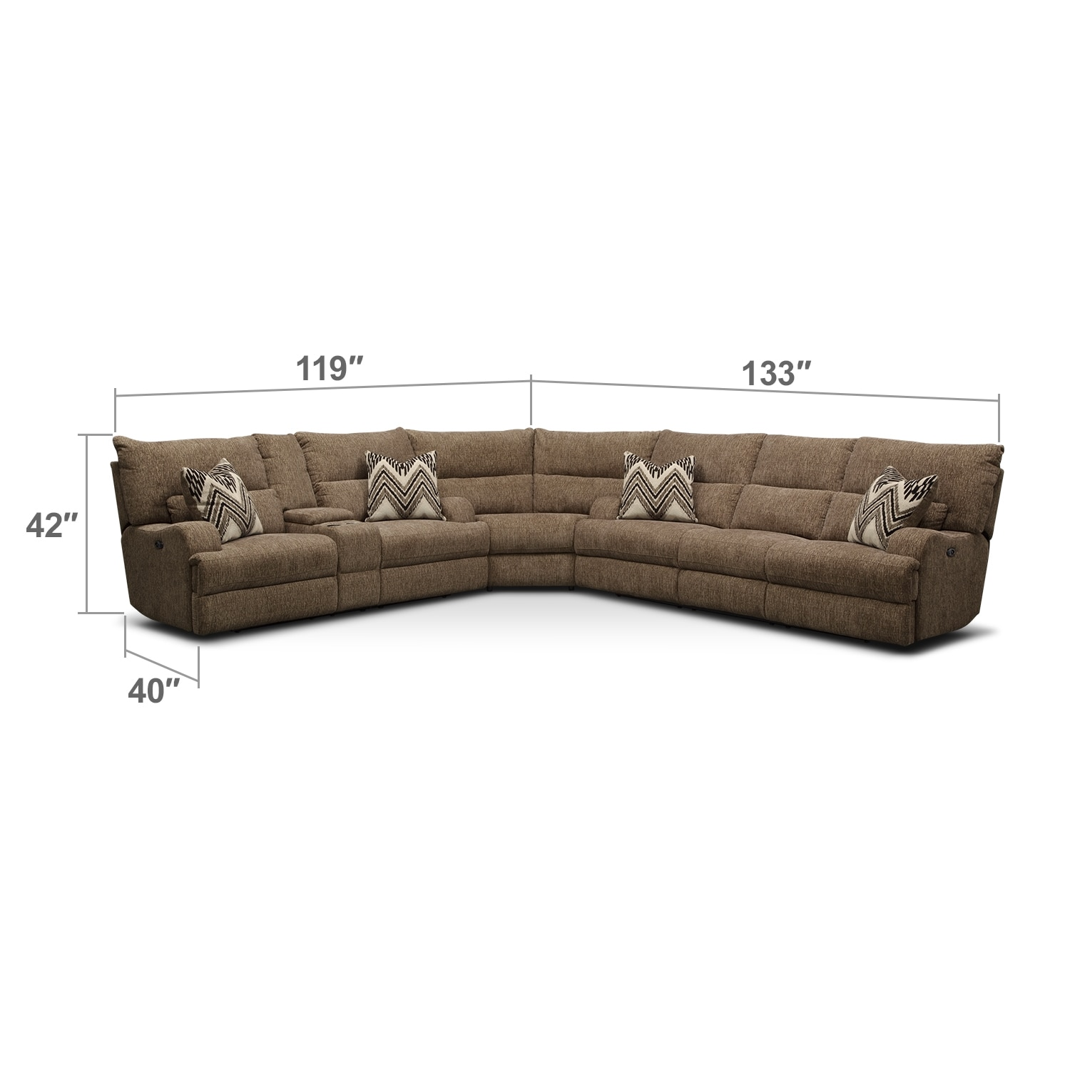 Living Room Furniture - Sundance 3 Pc. Power Reclining Sectional