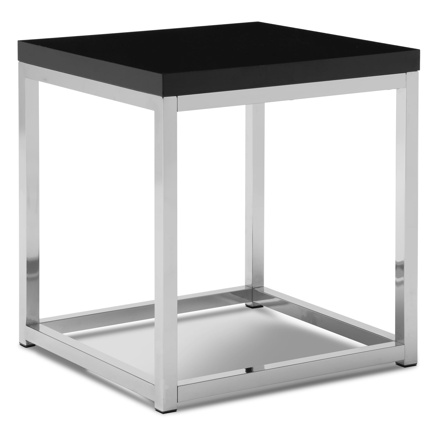 Cielo End Table - Chrome and Black