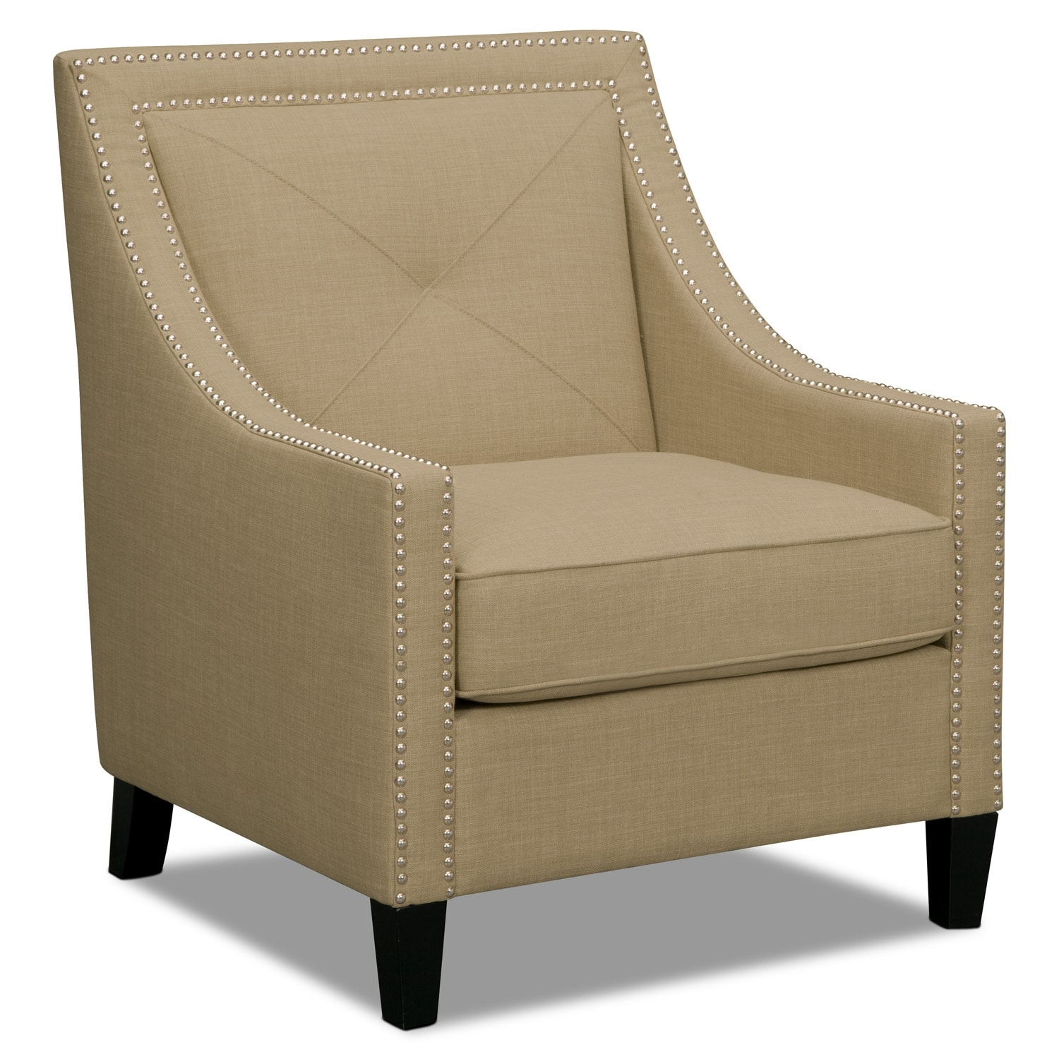 Living Room Furniture - Cabaret Accent Chair - Beige