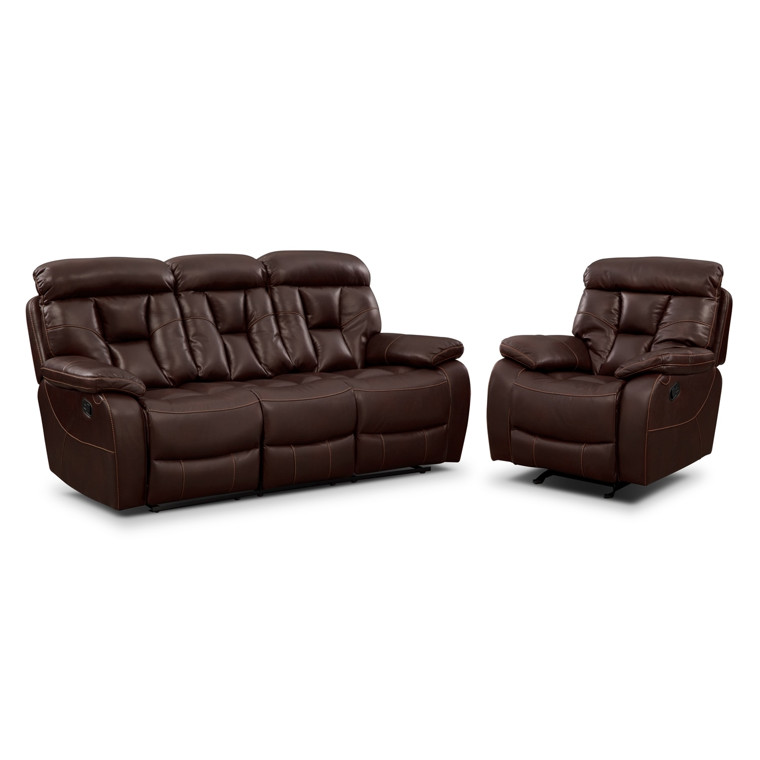 Living Room Furniture - Dakota 2 Pc. Living Room w/ Glider Recliner