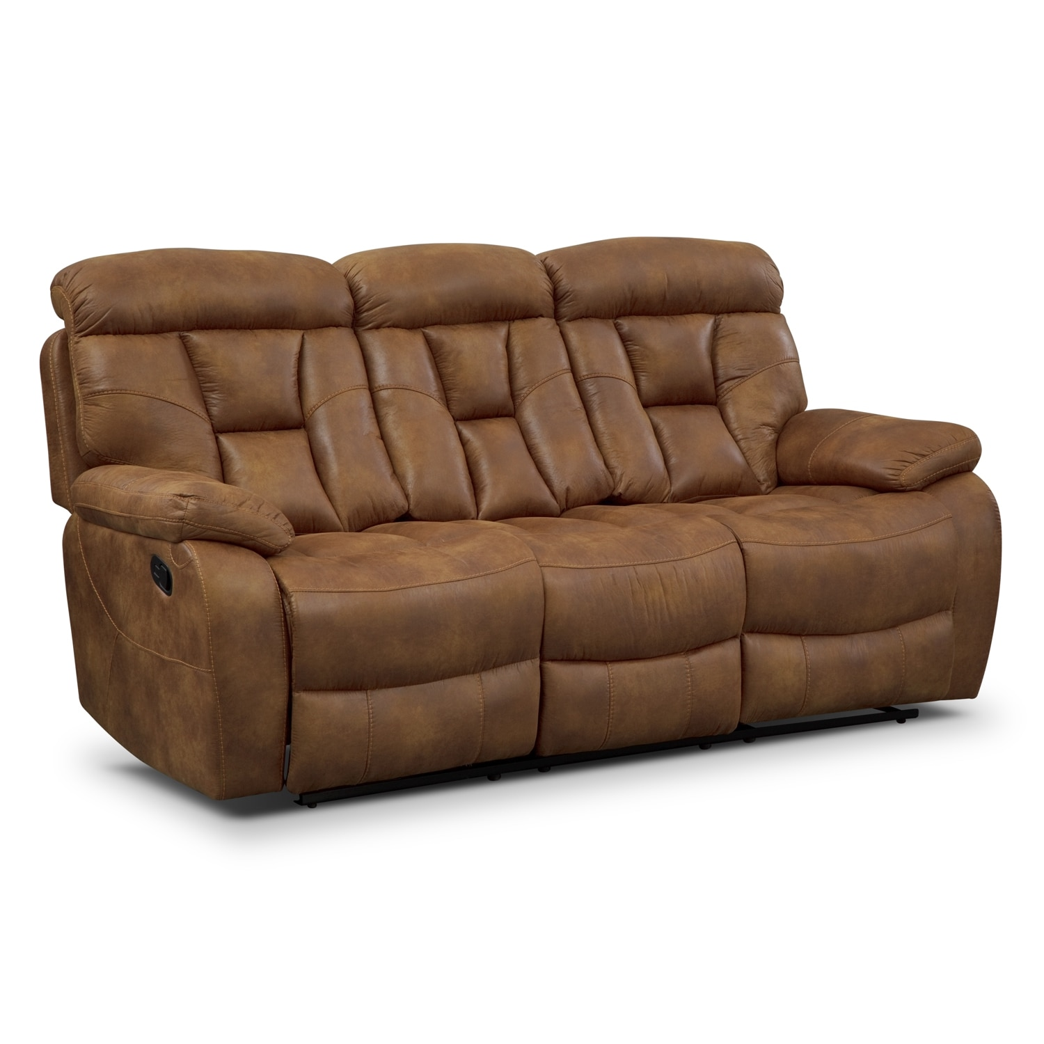 Dakota Reclining Sofa - Almond
