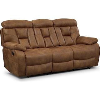 Dakota Reclining Sofa - Almond
