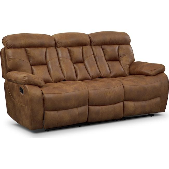 Living Room Furniture - Dakota Reclining Sofa - Almond
