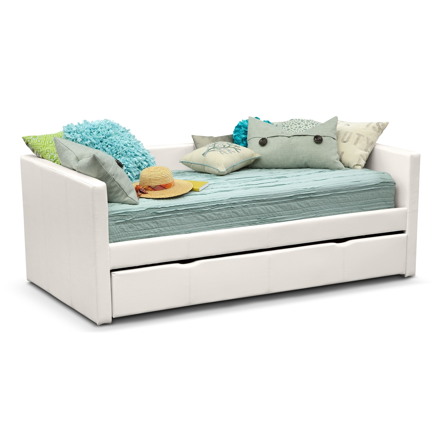 Carey Twin Daybed with Trundle - White - Carey Twin Daybed With Trundle - White Value City Furniture