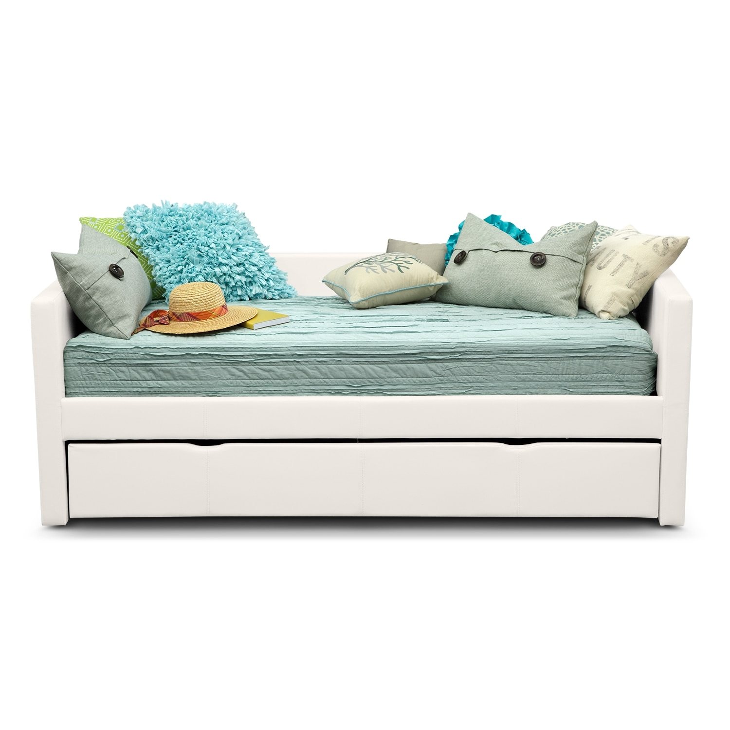 Click to change image. - Carey Twin Daybed With Trundle - White Value City Furniture