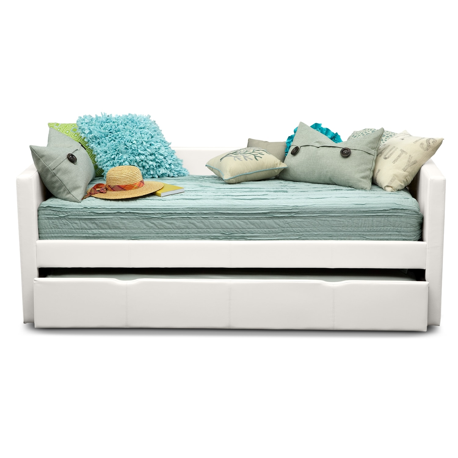 Twin trundle bed white - Click To Change Image