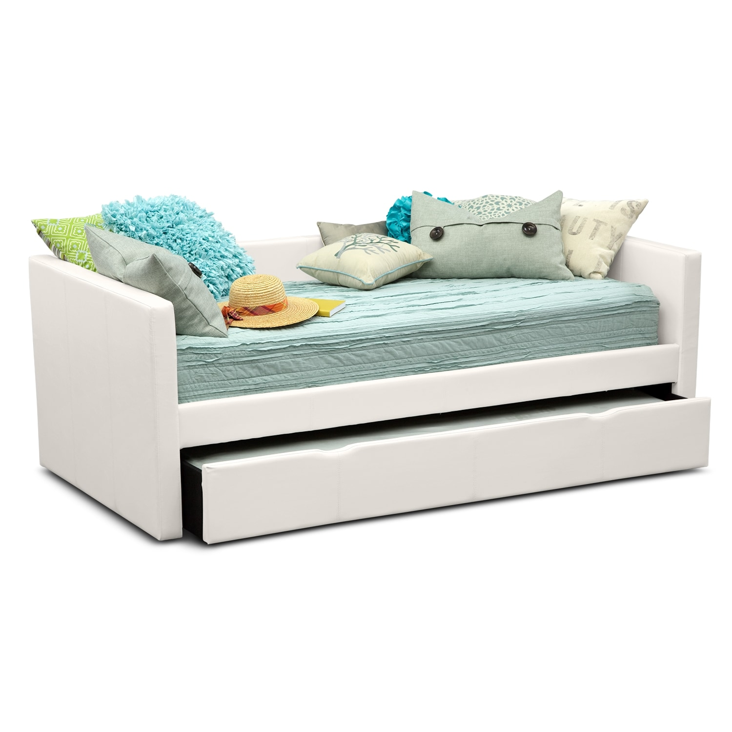 Carey Twin Daybed With Twin Twin Trundle White Value