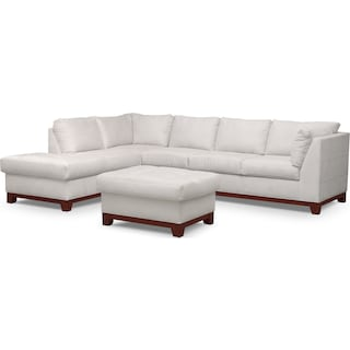 Soho 2-Piece Sectional with Left-Facing Chaise and Ottoman - Cement