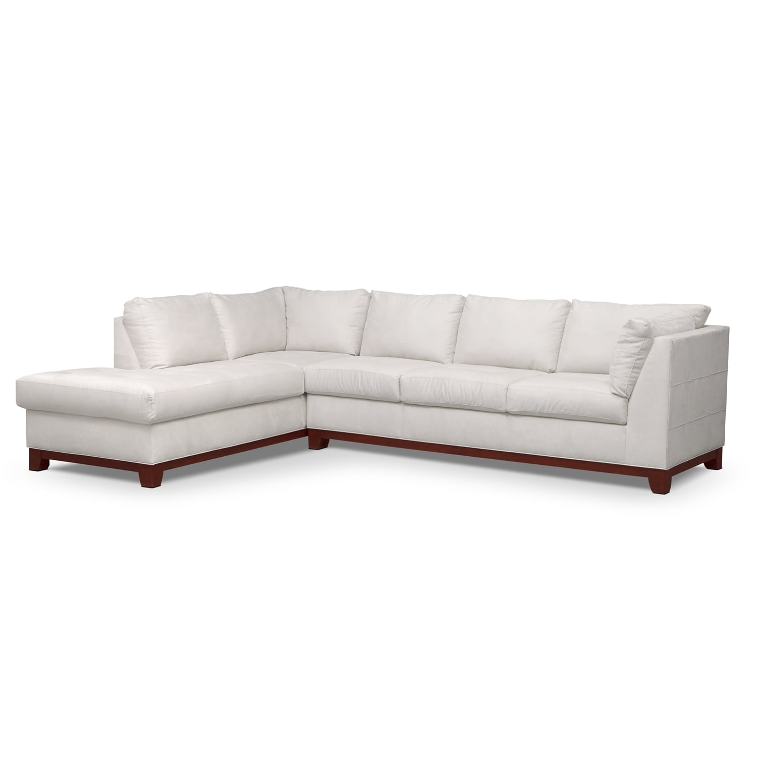 Living Room Furniture - Soho 2-Piece Sectional with Left-Facing Chaise - Cement