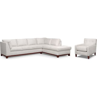 Soho 2-Piece Sectional with Right-Facing Chaise and Chair - Cement