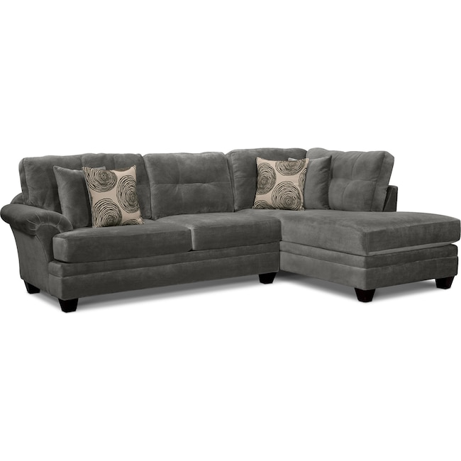 Cordelle 2 Piece Sectional With Chaise Value City Furniture And