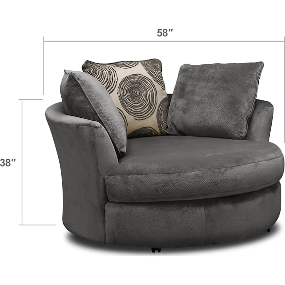 Cordelle Swivel Chair - Gray | Value City Furniture