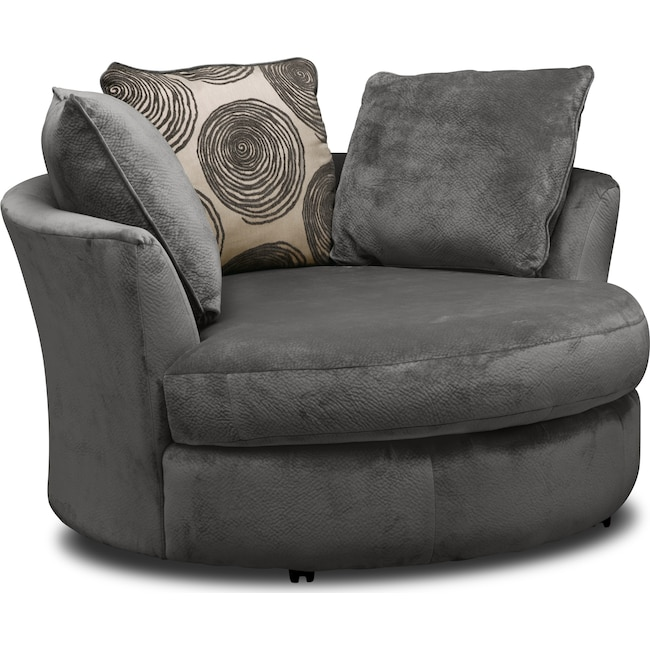 Cordelle Swivel Swivel Chair Value City Furniture And Mattresses