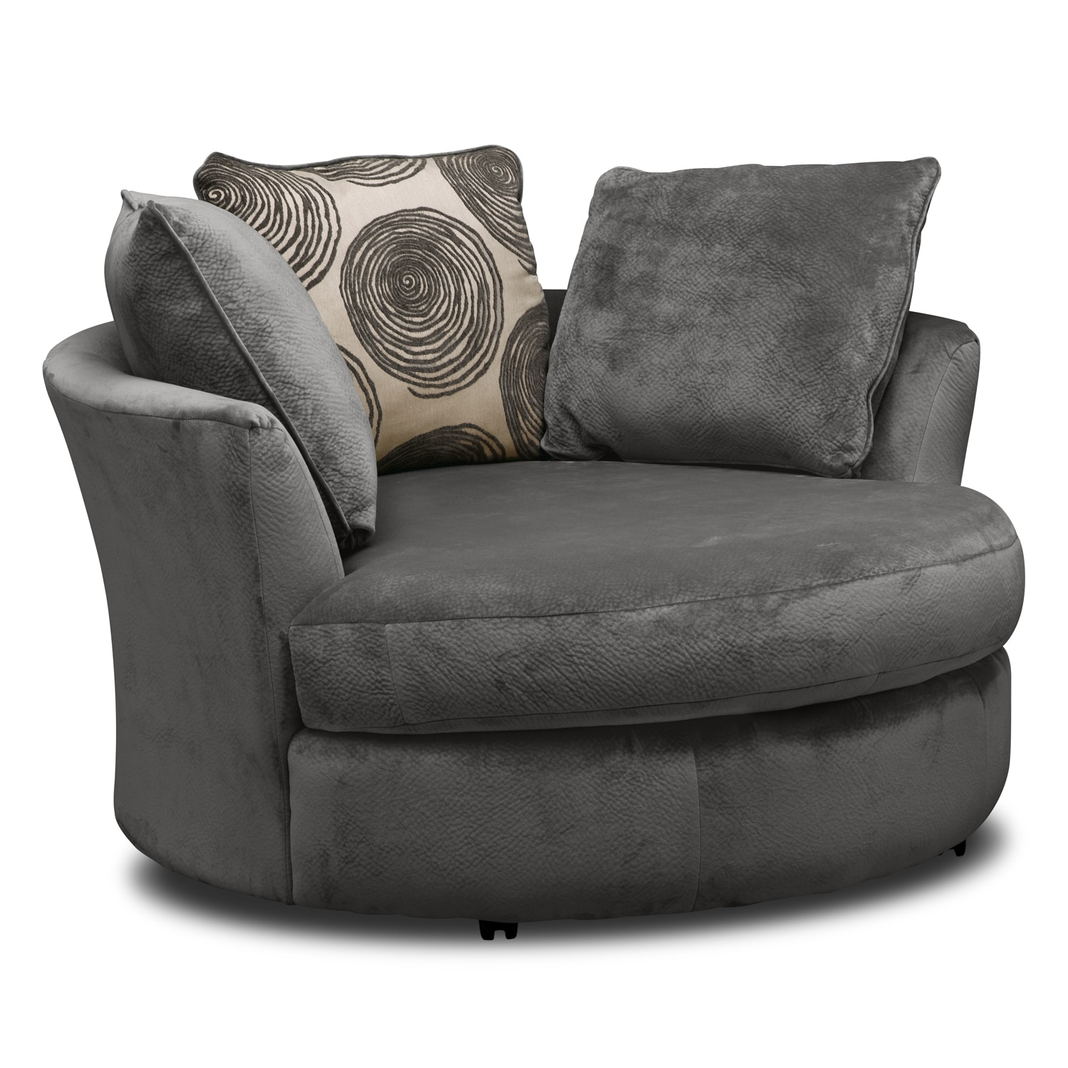 Living Room Furniture   Cordelle Swivel Chair   Gray