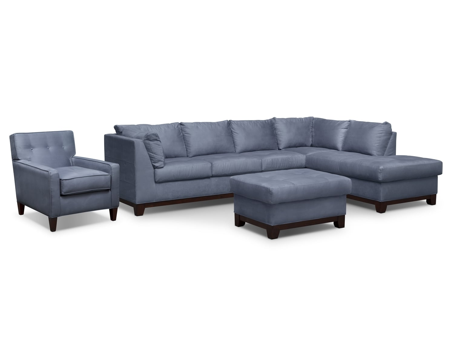 The Soho Sectional Collection - Steel