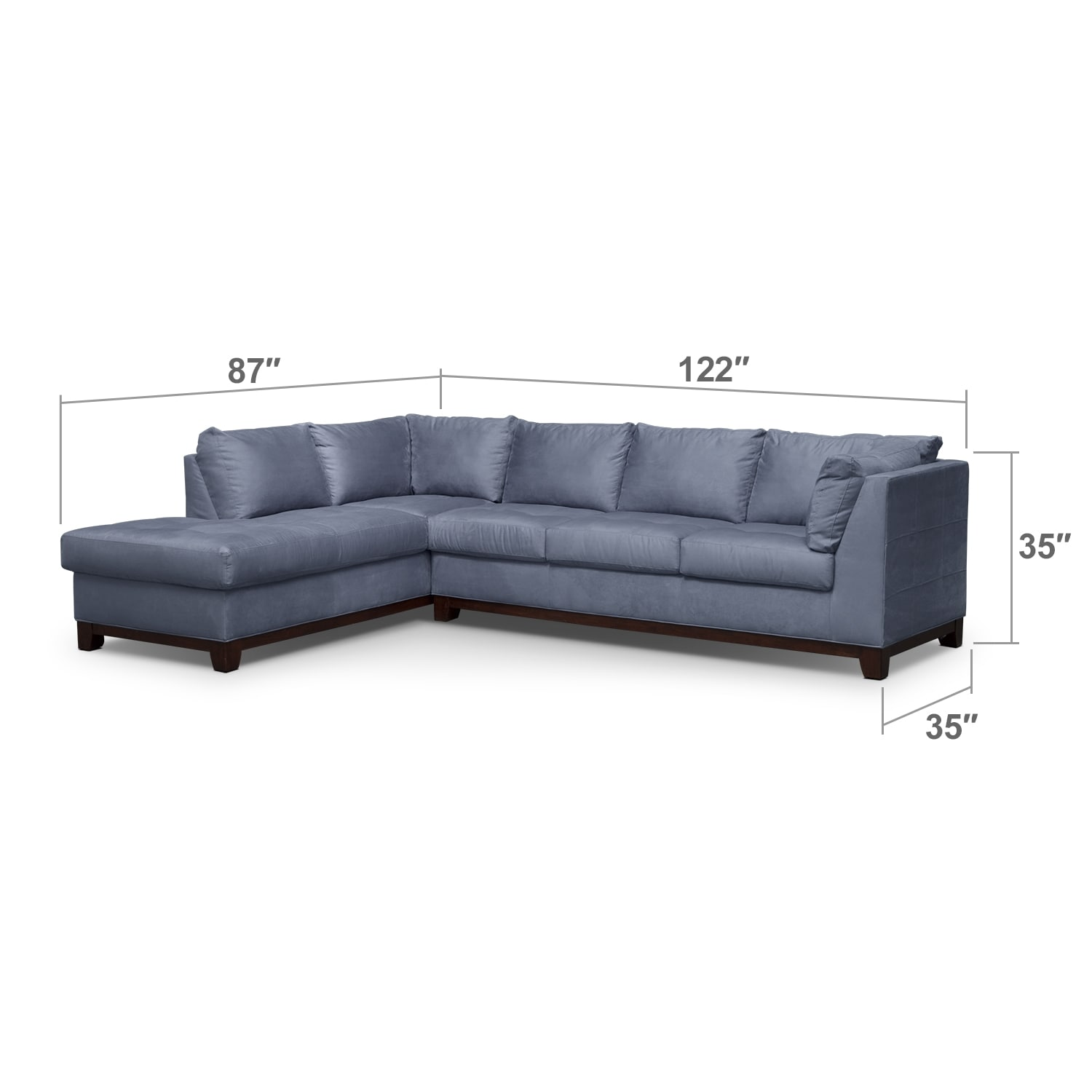 Living Room Furniture - Soho IV 2 Pc. Sectional (Reverse)