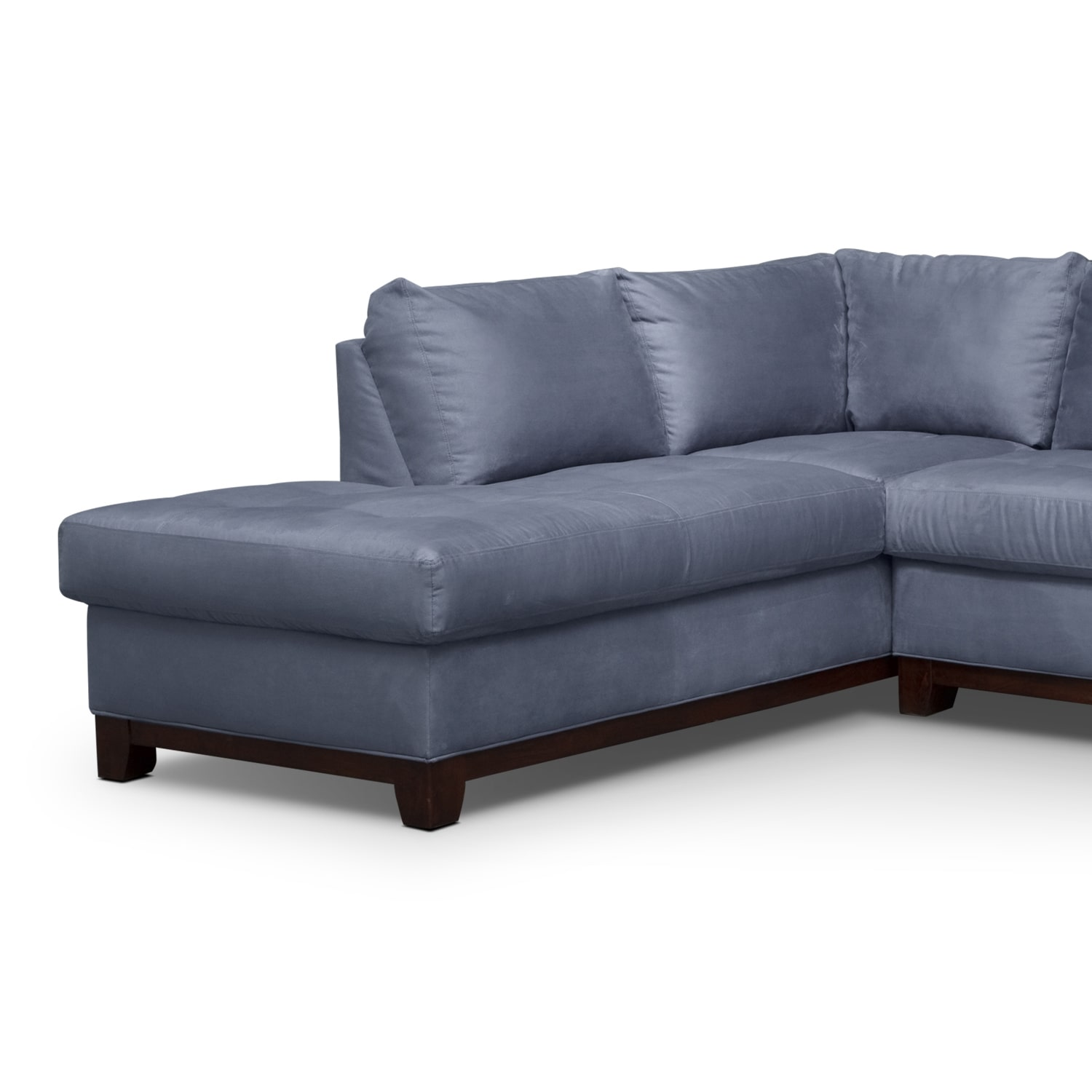 Soho 2 Piece Sectional with Left Facing Chaise Steel
