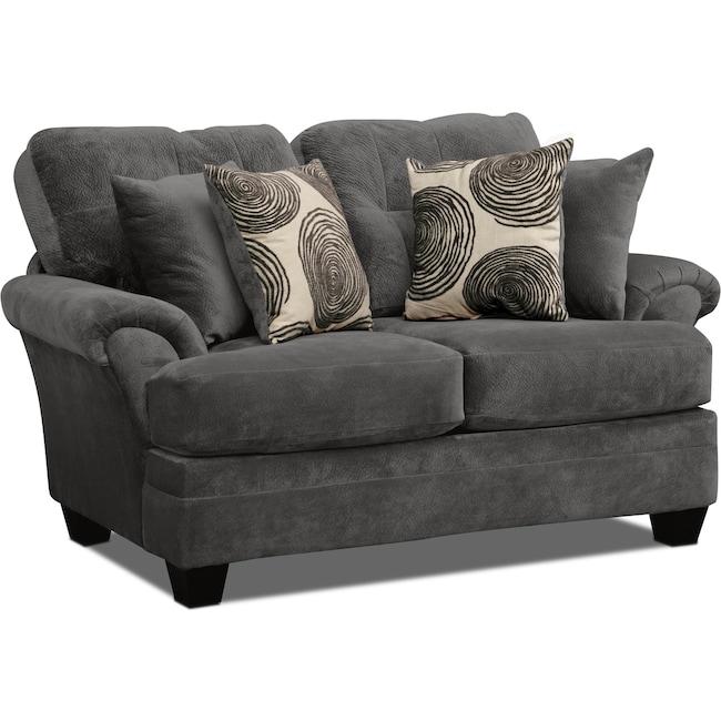 Living Room Furniture - Cordelle Loveseat - Gray