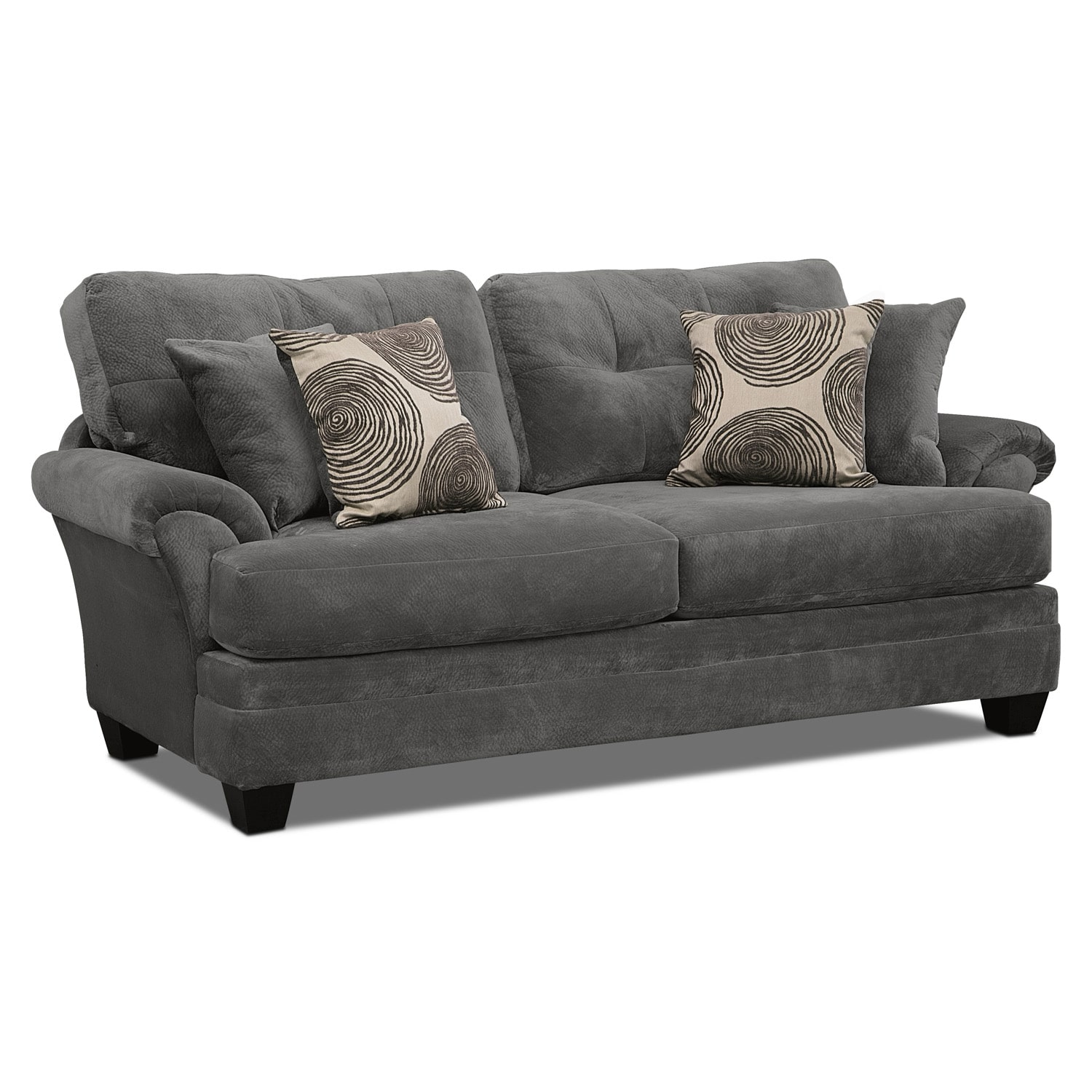 Click to change image. - Cordelle Sofa, Loveseat And Cocktail Ottoman Set - Gray Value