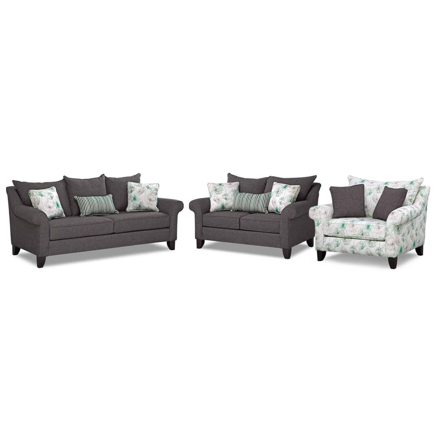 Living Room Furniture - Jasmine 3 Pc. Living Room