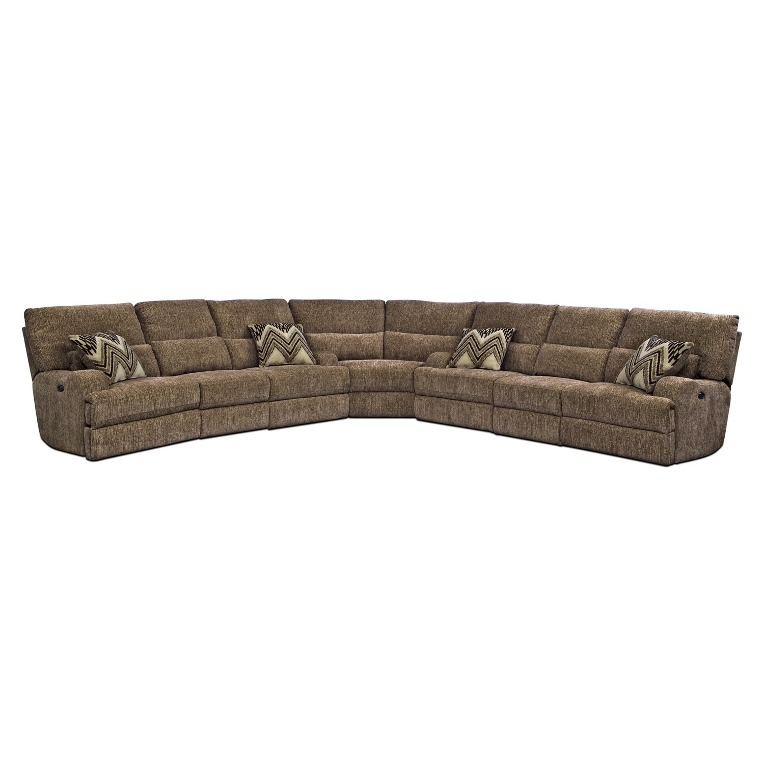 Living Room Furniture - Sundance 3 Pc. Power Reclining Sectional (Alternate)