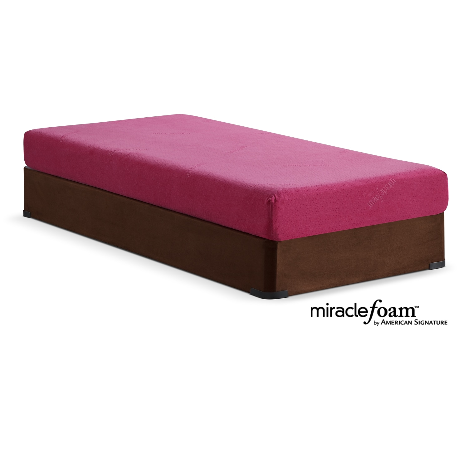 Renew Pink Full Mattress and Foundation Set