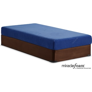 Renew Blue Medium Firm Full Mattress and Foundation Set - Blue