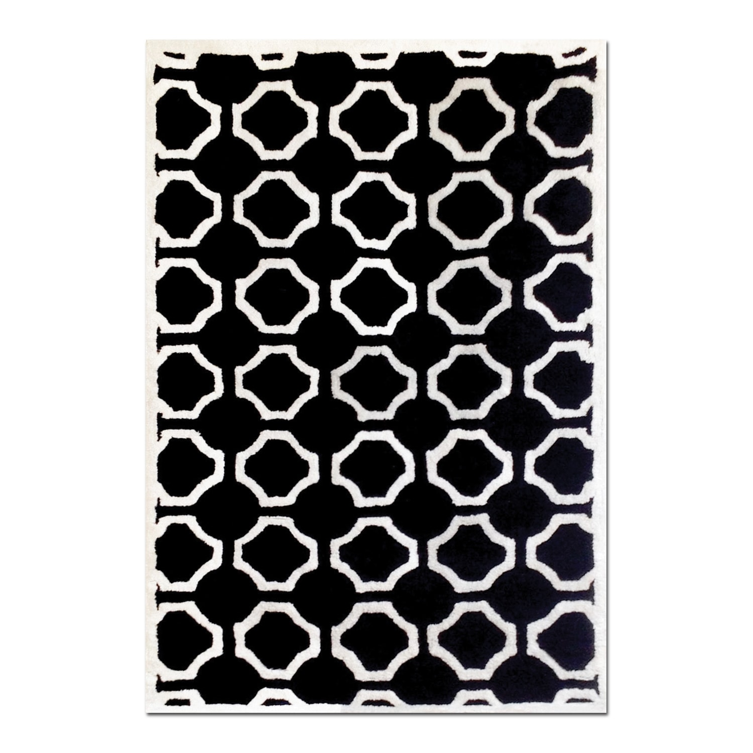Rugs - Lifestyle Black Semi-Circle Area Rug (8' x 10')