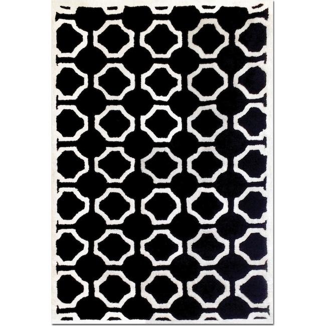Rugs - Lifestyle Black Semi-Circle Area Rug (8' x 10')