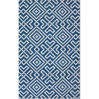 Salon Zigzag 5' x 8' Area Rug - Blue