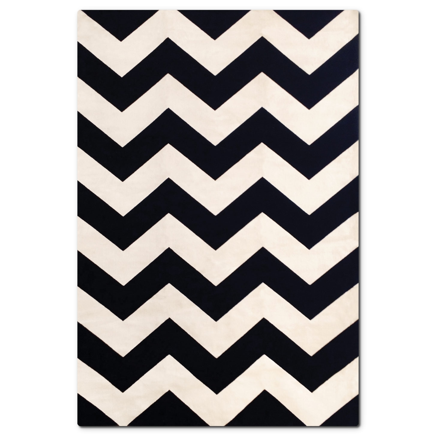 Sonoma Black Chevron Area Rug (5' x 8')