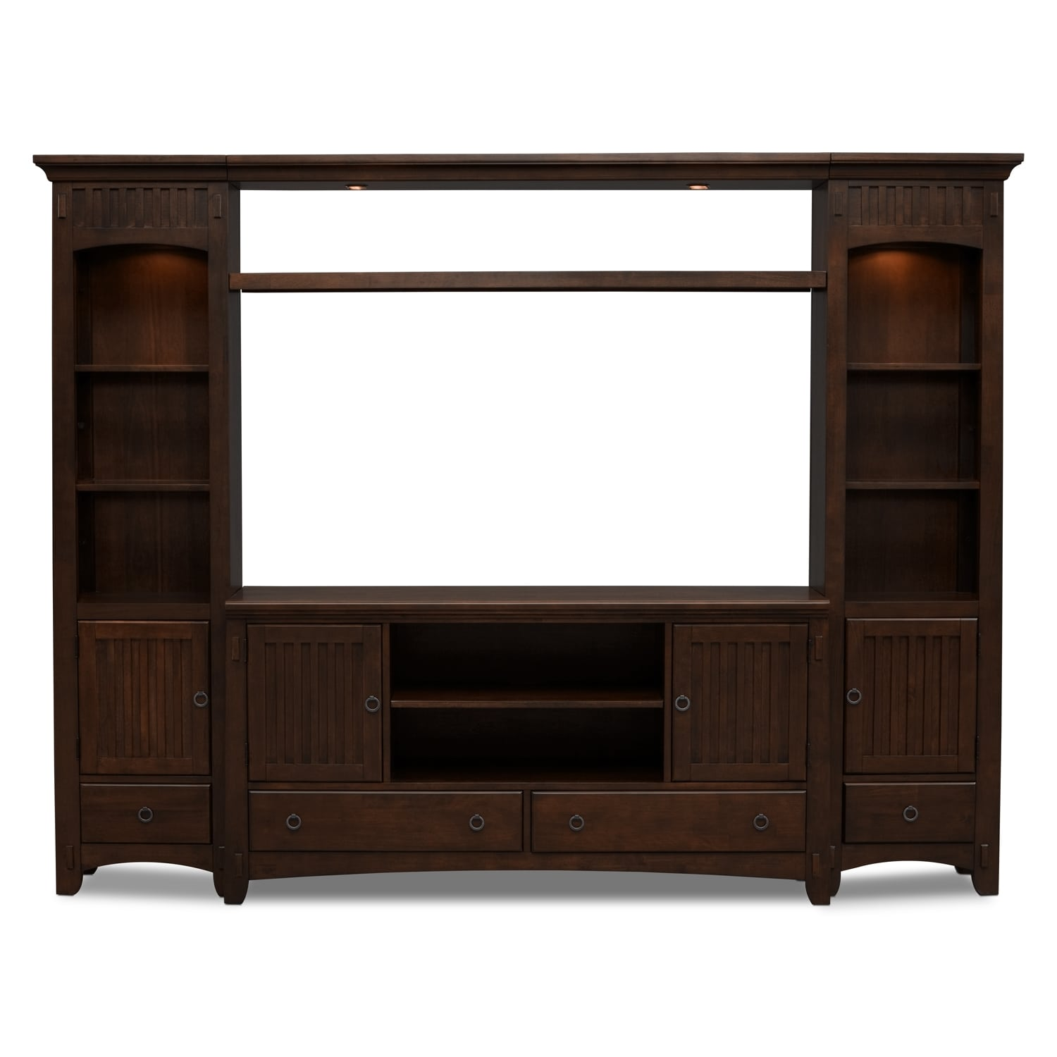 Furniture Com: Arts & Crafts 4-Piece Entertainment Wall Unit
