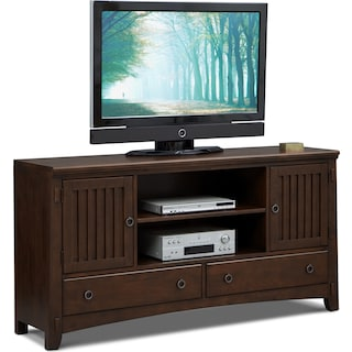 Arts & Crafts TV Stand - Chocolate